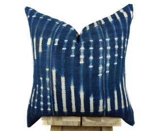 Vintage African  Indigo Pillow Cover, African Pillow, Indigo Pillow | Eva