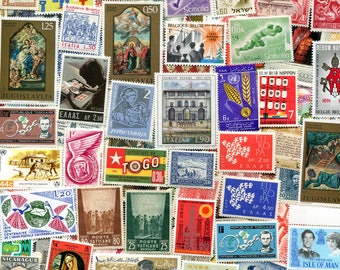 Vintage Worldwide Unused Stamps 100 / Free Shipping