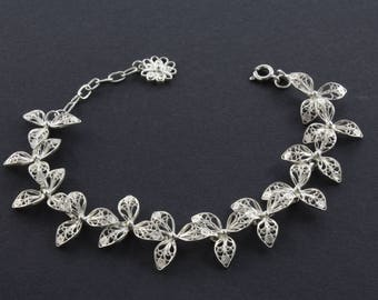Handmade silver filigree braclet