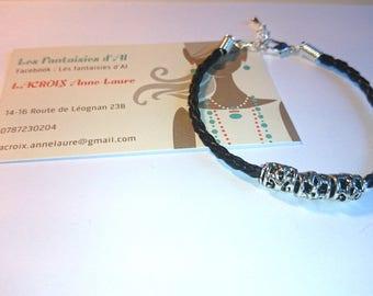 Nice black color leather Bracelet
