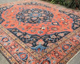12x14 Antique Persian Rug - Tabriz