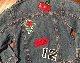 Cherry Bomb - Kids Denim Jacket