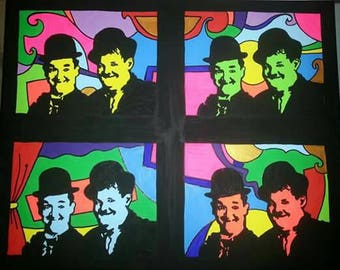 """Painting """"Laurel and Hardy"""""""