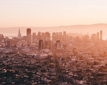 California Landscape Photography Prints / San Francisco Sunrise at Twin Peaks / California Print /Prints Wall Art / Fine Art Photo