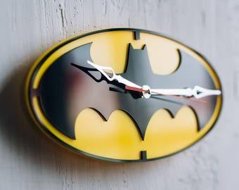 Wall Clock Batman Decor bat man batman cosplay batman decorations batman kitchen bat girl birthday gift bat mask arkham asylum emblem