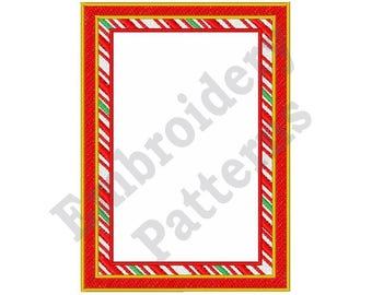 Candy Cane Border - Machine Embroidery Design