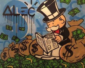 ALEC MONOPOLY Wsj - Reprod On Paper Archival210m OR Canvas hdprint, Museum Gallery Stretched