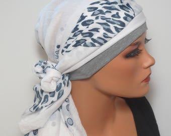 Head scarf Hat/TURBAN summery ideal headgear b. chemotherapy alopecia hair loss chemo Cap Yoga cancer convertible cloth