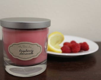 Raspberry Lemonade Soy candle