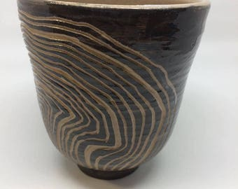 black rock cup,unique,handmade,ceramic,pottery, tea cup,gift,housewarming ,kitchen, dining