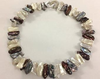 Biwa Pearl necklace, Pearl necklace, Pearl Necklace