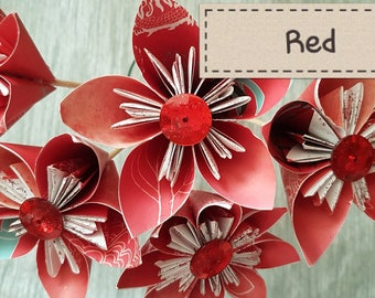 Handmade Paper Flowers - Oriental  Spice collection