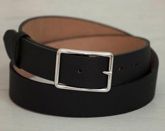 Leather Belt, Black Leather Belt, Black Womens Belt