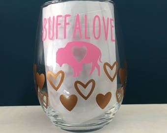 Buffalove Wine Glass