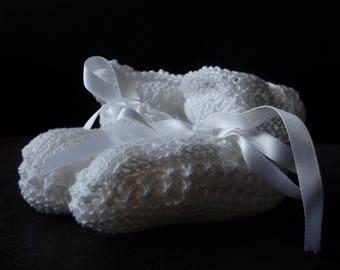 White Crochet Booties