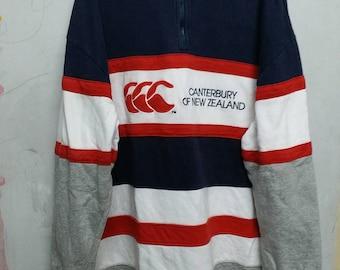 Vintage canterbury half zipper sweatshirt XL