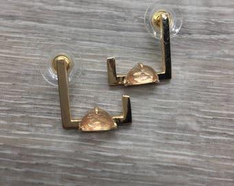 Geometric earrings, Asymmetric earrings, Minimalistic earrings, Set earrings, Stud earrings, Square earrings, Edgy earrings, Bar earring