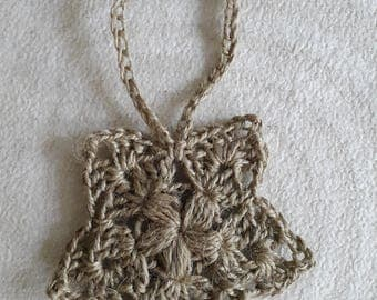 Handmade Crochet Jute Star Decoration