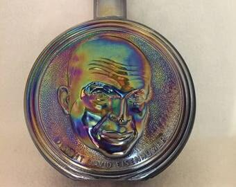 Brown Carnival Glass Bottle - Dwight Eisenhower - 34th President (#030)