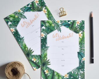 Invitations Blank - Tropical