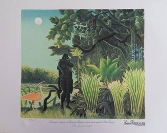 The customs officer ROUSSEAU (Henry): Snake charmer - original LITHOGRAPH #1976