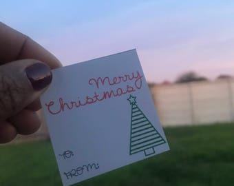 Keepsake Christmas Tags