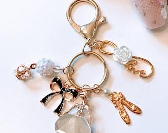 Ballerina Bag/Key Charm *Gold*