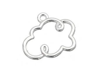 charm silver plated silver cloud (E60)
