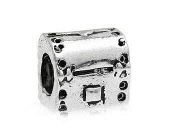 SET of 5 spacer bead pandora compatible (P05) silver treasure chest