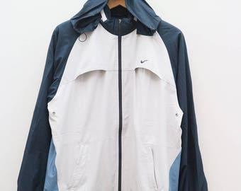 Vintage NIKE Sportswear Blue Zipper Jacket Windbreaker Size XL
