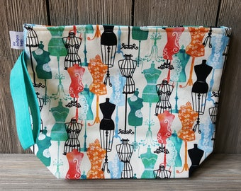 Myrtle fabric project bag