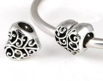 Silver Pandora Heart Charm, Pandora Charm, Pandora Bracelet Charm, Heart Pandora Charm, Heart Charm