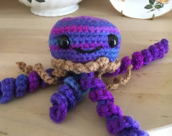 Peanut butter and jellyfish amigurumi // handmade // stuffed toy // plushie // crochet