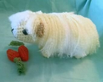 Long-haired Crochet Guinea Pig Plush