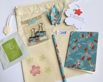 Washi goldfish to say thank you stationery pouch