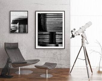 Black And White Art Prints Set, Modern Black And White Wall Decor Set, Modern Geometric Posters, Modern Photo Decor, Modern Gallery Wall