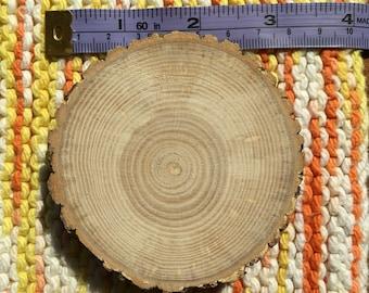 3 inch wood elm slice coaster unfinished