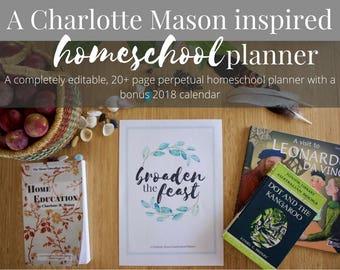 Charlotte Mason Inspired Homeschool Planner