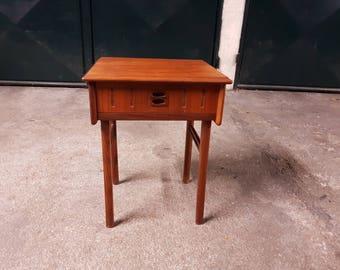 Vintage scandinavian mid century teak nightstand