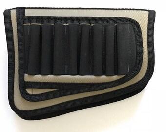 Rifle buttstock cartridge holder - cheek rest ammo holder