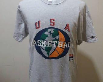 Vintage champion basketball usa team shirt