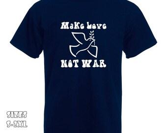 Make Love Not War T-Shirt   Make Love not War Peace Dove Tshirt