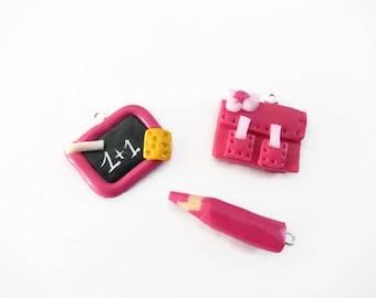 Binder + slate pencil + pink