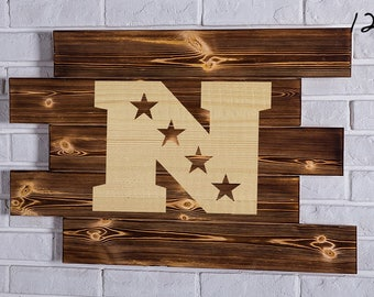 National Football Conference Wood Sign National Football Conference Wall art National Football Conference Gift