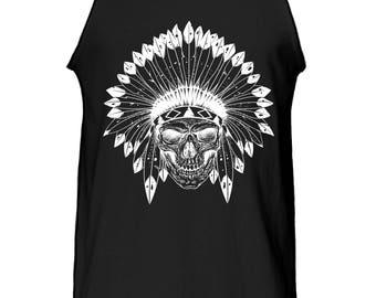 Native Tribe Indian Skull Tank Top