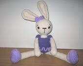 Handmade, Crochet Toy, Soft Toy, Stuffed Animal, Amigurumi Ballerina Bunny - Bella