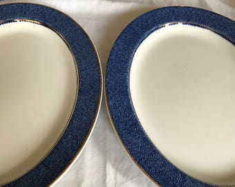 Woods Ware Powder Blue Steak Plates. Platters. Serving Platters. Powder blue oval plate