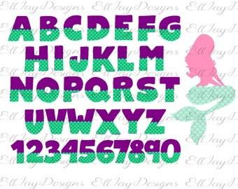 Mermaid font svg, mermaid tail font, fish scale font, silhouette cut file, cricut cut file, mermaid svg, mermaid scale svg, Mermaid alphabet