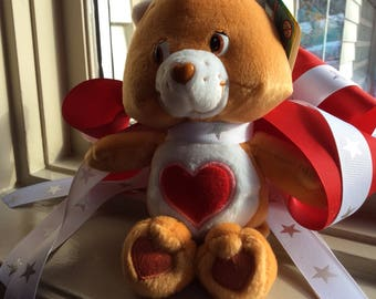 Vintage 2002 Tender Heart Bear, Vintage toy, baby toy, gift giving, bear plushie, stuffed animal