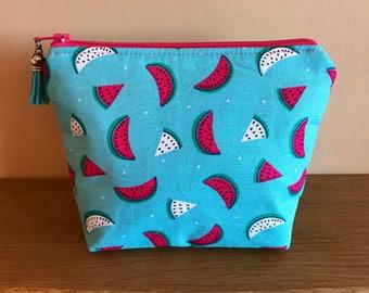 Cosmetic Bag, Makeup Bag, Zipper Pouch, Water Melon, Water Melon Cosmetic Bag